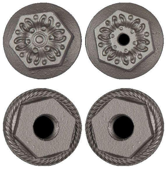 Decorative floral end cap for cast iron radiators