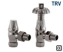 Thermostatic Crocus Radiator Valves - Black Nickel