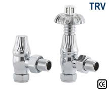 Thermostatic Crocus Radiator Valves - Chrome Plated