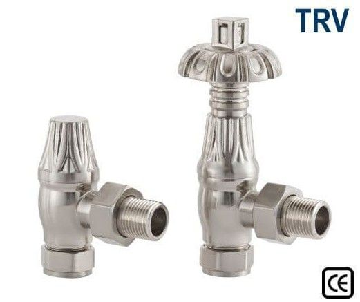 Thermostatic Crocus Radiator Valves - Satin Nickel