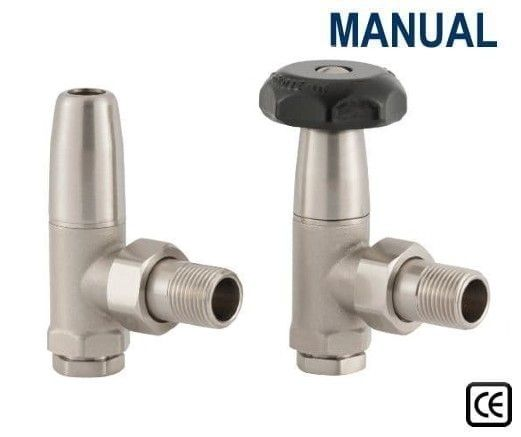 Traditional Manual Radiator Valves - Satin Nickel