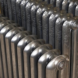 hand polished cast iron radiators