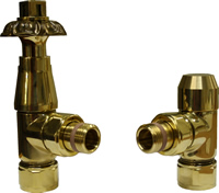 European Floral Manual Radiator Valve - Brass