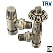Gothic Thermostatic Radiator Valve - Antique Brass