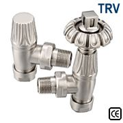 Gothic Thermostatic Radiator Valves - Satin Nickel