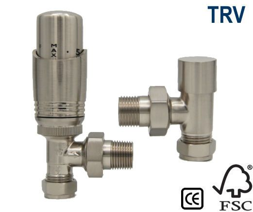 Richmond Thermostatic Radiator Valve - Satin Nickel