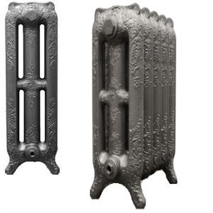 Decorative 765mm Rococo 3 column Cast Iron Radiators assembled and finished to your exact requirements