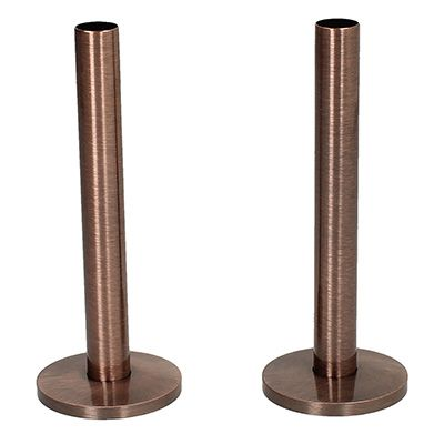 Tails and Decoration Floor Cover Plates 130mm - Antique Copper