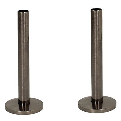 Tails and Decoration Floor Cover Plates 130mm - Black Nickel