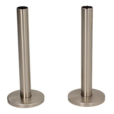 Tails and Decoration Floor Cover Plates 130mm - Satin Nickel