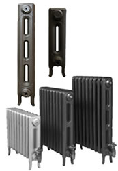 2 Column Edwardian Cast Iron Radiators