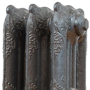 Antique Silver Powder Coated Cast Iron Radiators