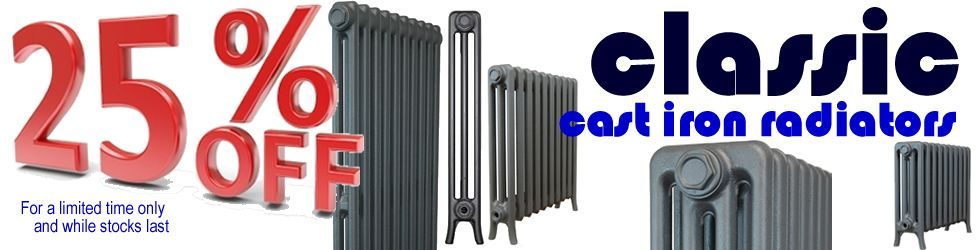 25% off Classic Cast Iron Radiators for a limited time only