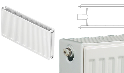 Double steel panel radiator