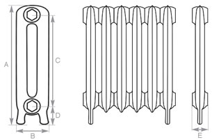 Carrron Princess Cast Iron Radiator