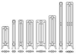 Technical data for cast iron radiators