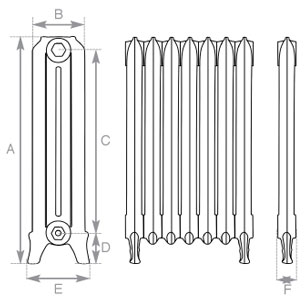 Ribbon Cast Iron Radiator