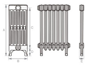 6 Column Cast Iron Radiator