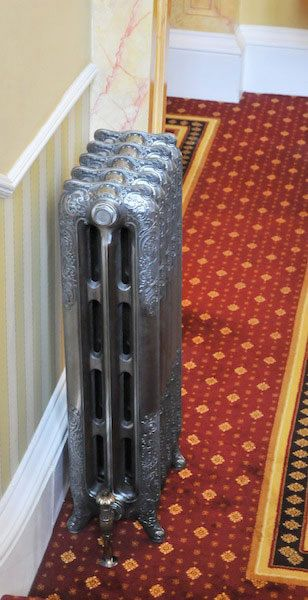 Highlight Polished Sovereign Rococo Cast Iron Radiators 970mm